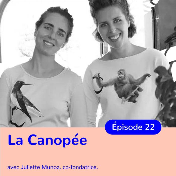Juliette Munoz, co-fondatrice de La Canopée, cosmétiques 100% d'origine naturelle