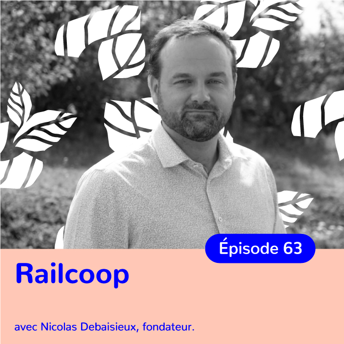 Nicolas Debaisieux, directeur de Railcoop, coopérative ferroviaire au service de tous les citoyens