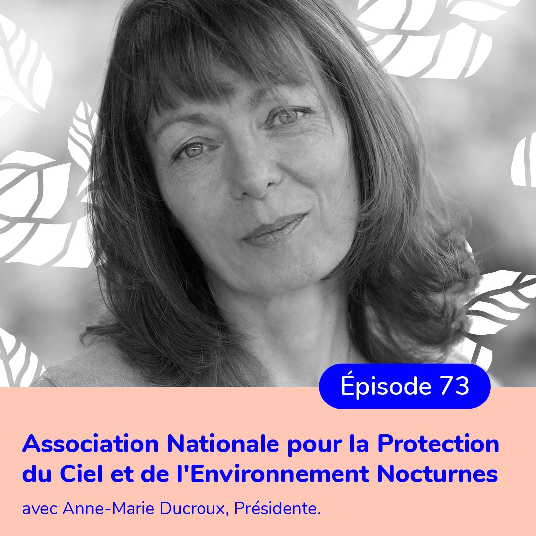 Anne-Marie Ducroux, présidente de l'ANPCEN, lutter contre la pollution lumineuse – TRANSCRIPTION